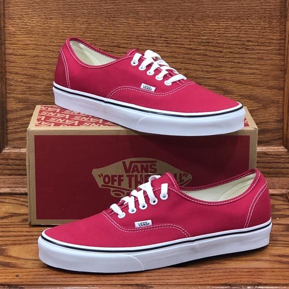 045d40ce2b2aa5 Vans Authentic Crimson True White Classic Shoes